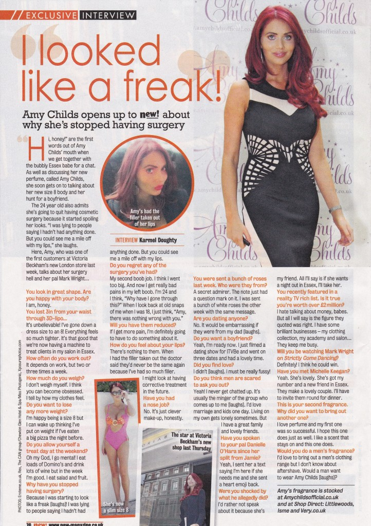 amy childs new magazine